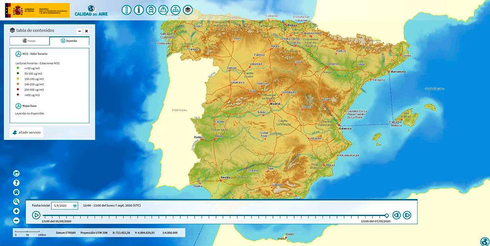 España lanza un índice de calidad del aire